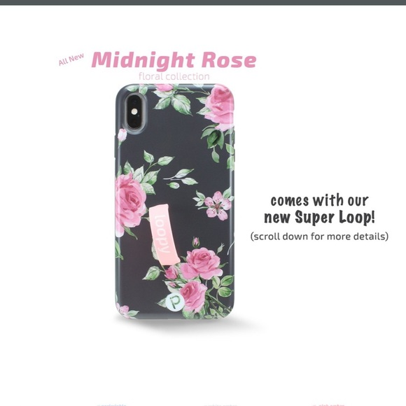 premium selection adf4a c6dd4 Midnight rose loopy case iPhone XS Max